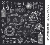 hand drawn design elements for...   Shutterstock .eps vector #272249777