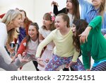 group of children with teacher... | Shutterstock . vector #272254151