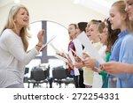 children in singing group being ... | Shutterstock . vector #272254331