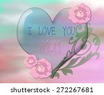 crystal heart and watercolor...   Shutterstock . vector #272267681