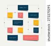 flow chart scheme. infographics ... | Shutterstock .eps vector #272270291
