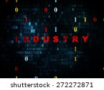business concept  pixelated red ... | Shutterstock . vector #272272871