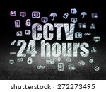 privacy concept  glowing text... | Shutterstock . vector #272273495