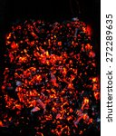 Bright Sparkling Embers In A...