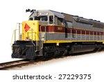 A Modern Locomotive Isolated O...