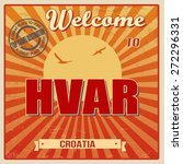 vintage touristic welcome card  ... | Shutterstock .eps vector #272296331