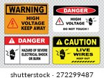 danger hazard of severe... | Shutterstock .eps vector #272299487
