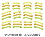 set of ribbons  isolated on... | Shutterstock .eps vector #272300891