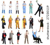 businessmen  builders  nurses ... | Shutterstock . vector #27230119