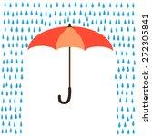 umbrella protection from rain | Shutterstock .eps vector #272305841