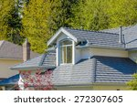 the roof of the house with nice ... | Shutterstock . vector #272307605