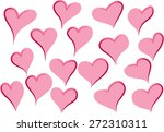heart shapes | Shutterstock .eps vector #272310311