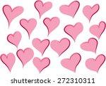 heart shapes | Shutterstock .eps vector #272310311