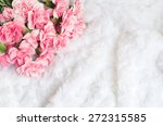 Pink Flower Background With...