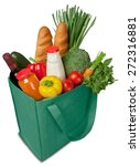groceries  shopping bag ... | Shutterstock . vector #272316881