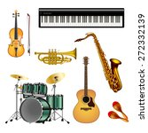 musical instruments isolated on ... | Shutterstock .eps vector #272332139