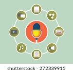 vector concept of interaction... | Shutterstock .eps vector #272339915