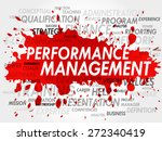 word cloud of performance... | Shutterstock .eps vector #272340419
