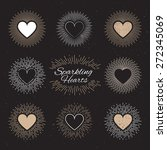 set of sparkling hearts on a... | Shutterstock .eps vector #272345069