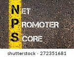 business acronym nps as net... | Shutterstock . vector #272351681