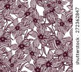 flower seamless pattern | Shutterstock .eps vector #272362847