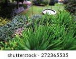 park scene with fountain in... | Shutterstock . vector #272365535