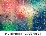 Drops Of Rain On Glass...