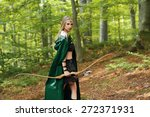 Female Elf With A Bow In The...