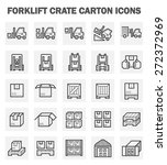 Forklift Carton And Crate Icon...