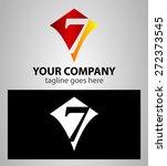 number seven 7 logo icon design ... | Shutterstock .eps vector #272373545