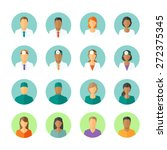 set of round avatars different... | Shutterstock .eps vector #272375345
