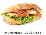 close up to ciabatta sandwich... | Shutterstock . vector #272377655
