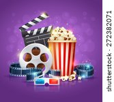 realistic cinema movie poster... | Shutterstock .eps vector #272382071