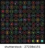 set of 100 minimal universal... | Shutterstock .eps vector #272386151
