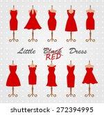 little red dress fashion... | Shutterstock .eps vector #272394995
