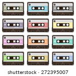 collection of nine colorful... | Shutterstock .eps vector #272395007