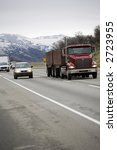 traffic on state highway 58... | Shutterstock . vector #2723955
