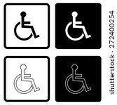 disabled handicap icon | Shutterstock .eps vector #272400254