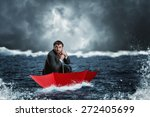 businessman in crisis | Shutterstock . vector #272405699