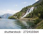 furebergsfossen waterfall ... | Shutterstock . vector #272410364