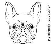french bulldog head logo or...   Shutterstock .eps vector #272416487