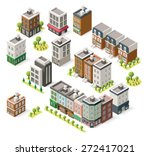 vector isometric icon set... | Shutterstock .eps vector #272417021