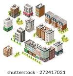 Set Of The Isometric City...