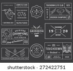 vector american football badges ... | Shutterstock .eps vector #272422751