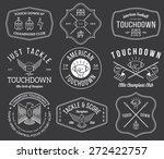 vector american football badges ... | Shutterstock .eps vector #272422757