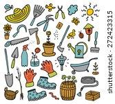 garden hand drawn cartoon color ... | Shutterstock .eps vector #272423315