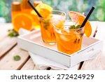 refreshing lemonade with... | Shutterstock . vector #272424929