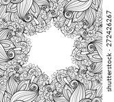 vector seamless monochrome... | Shutterstock .eps vector #272426267