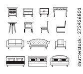 furniture vector table chair... | Shutterstock .eps vector #272426801