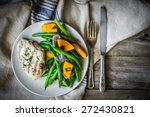 grilled chicken breast with... | Shutterstock . vector #272430821